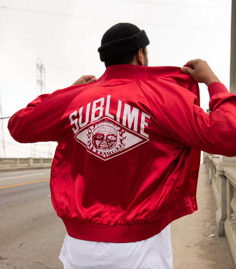 Sublime Satin Bomber Jacket