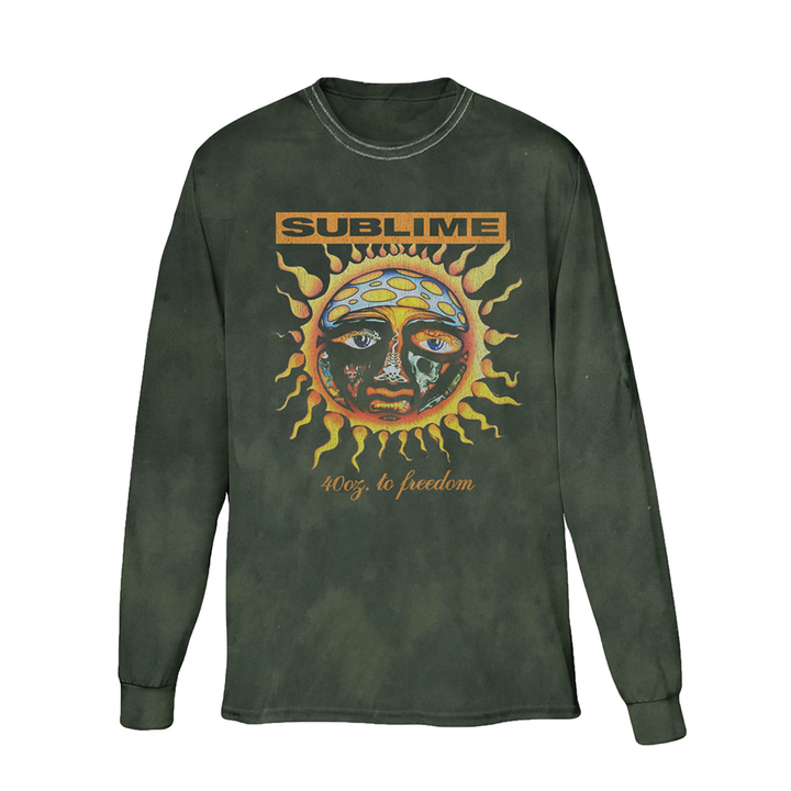 Faded Green Sublime Sun Longsleeve