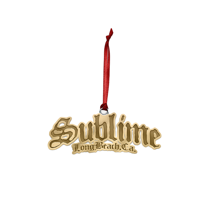Gold Sublime Logo Ornament