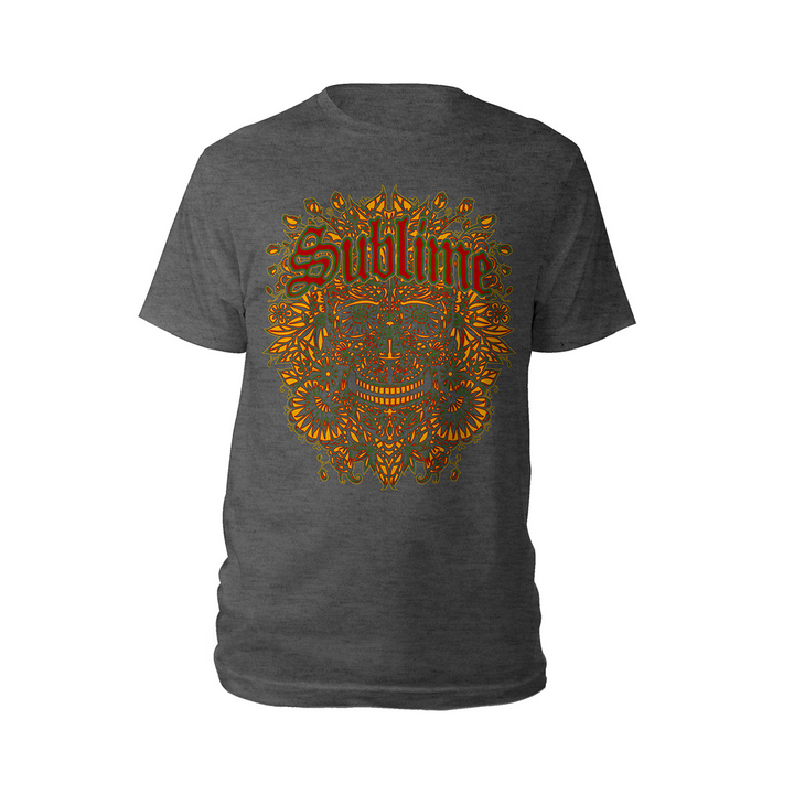 Sublime Yellow Skull Tee-Sublime
