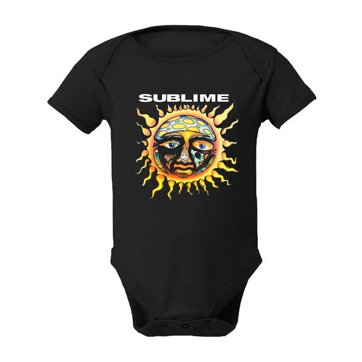 Sublime Sun Black Onesie