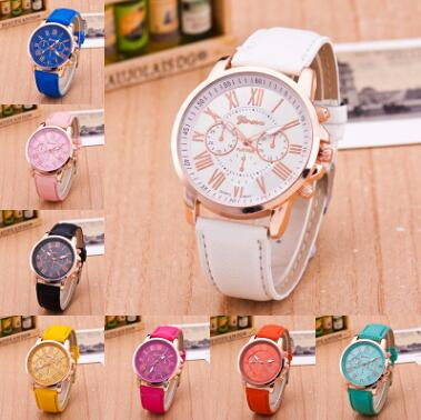 Wholesale Geneva Women/Man Watch Leather Watch