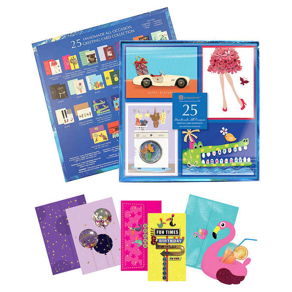 Handmade All Occasion Greeting Card Collection, 25-count