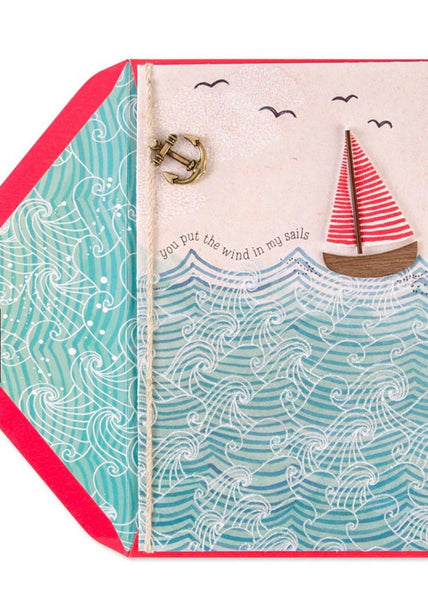 Wind in My Sails Anniversary Card