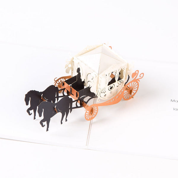 Carriage 3D Pop-up Card