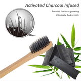 Toothbrush Bamboo 100% Biodegradable Eco with Charcoal Bristle
