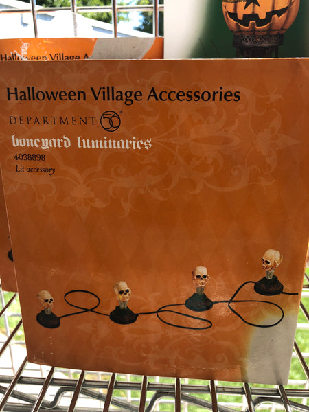 Halloween Accessories Boneyard Luminary's