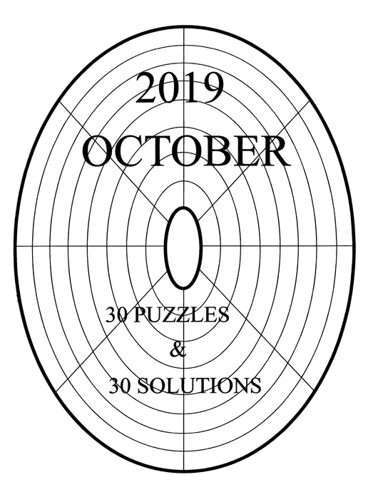 LINDI variety circular or oval sudoku easy to solve printable logic puzzle for the October 2019 edition