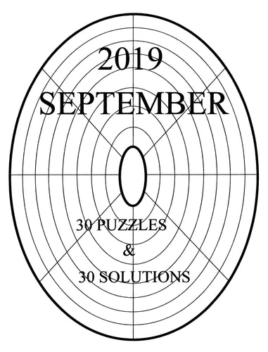 Printable LINDI variety circular or oval easy sudoku logic puzzle for September 2019 Edition