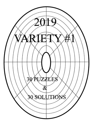 Printable LINDI variety circular or oval sudoku type logic puzzle