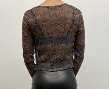 Load image into Gallery viewer, Mesh Snake Print Top