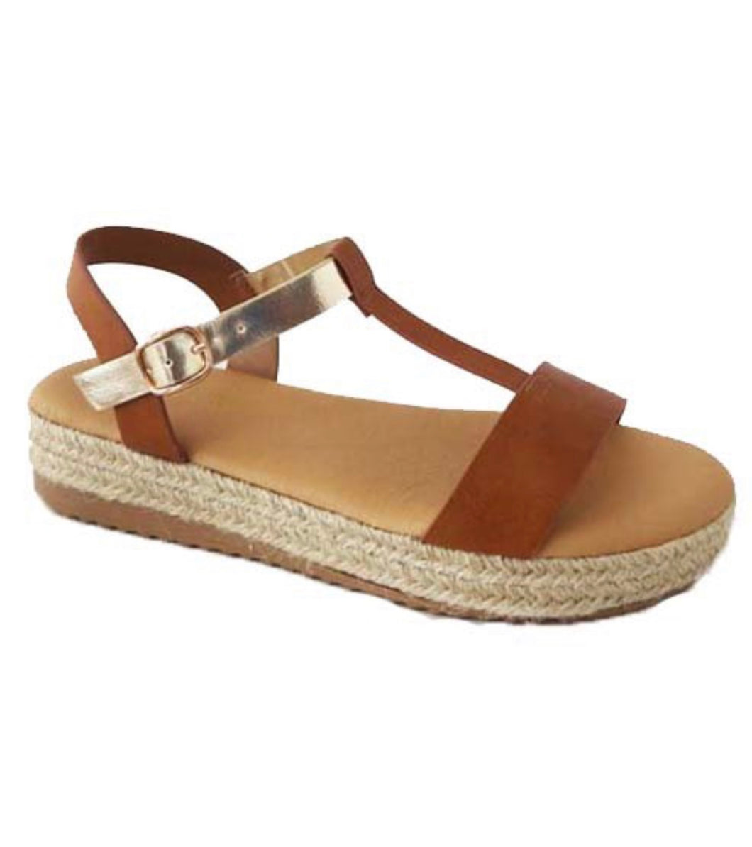 Espadrille Sandals (Tan)