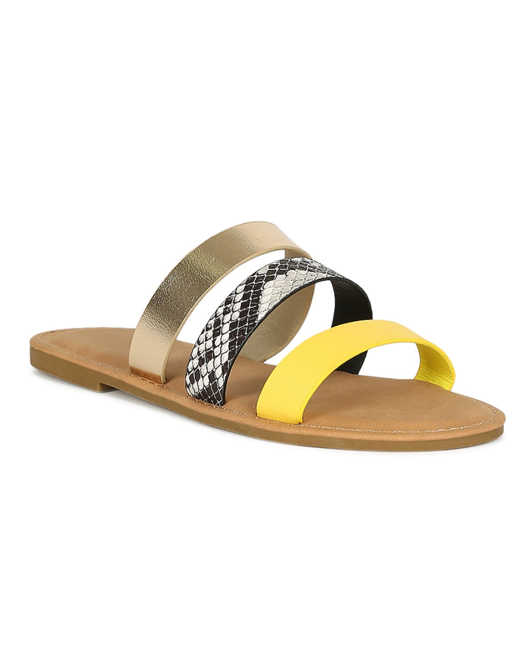 Python/Multi Color Sandals