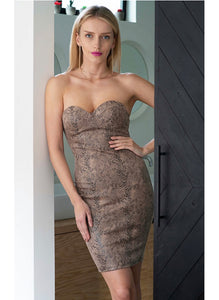 Snake Strapless Dress