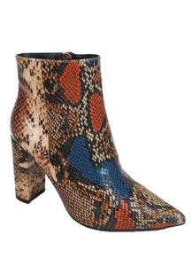 Noelle Multicolor Snake Print Boots