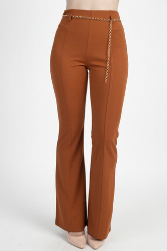 Oriana Belted Flare Pants