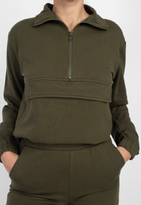 Brielle Pullover Sweater (Olive)