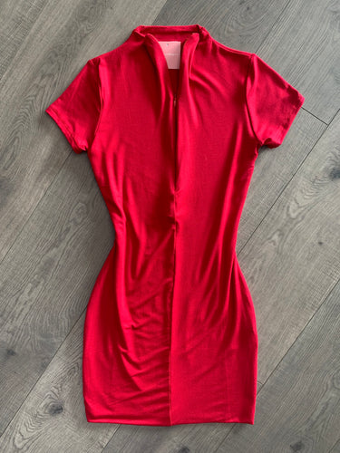 Leah Reversible Short Sleeve Dress (Red)