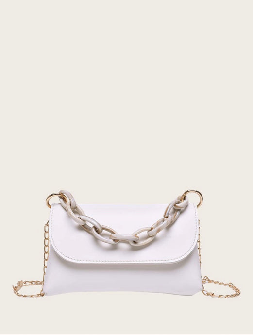 Yani Chain Bag (White)