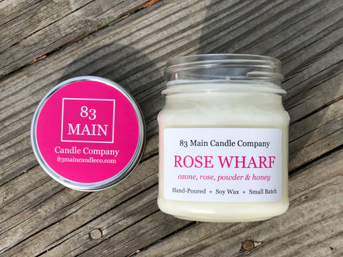 Rose Wharf Mason Jar Candle
