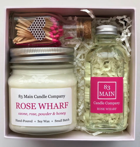 Gift Box: Candle, Reed Diffuser and Matches