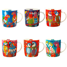 Load image into Gallery viewer, 6 Bird Mugs