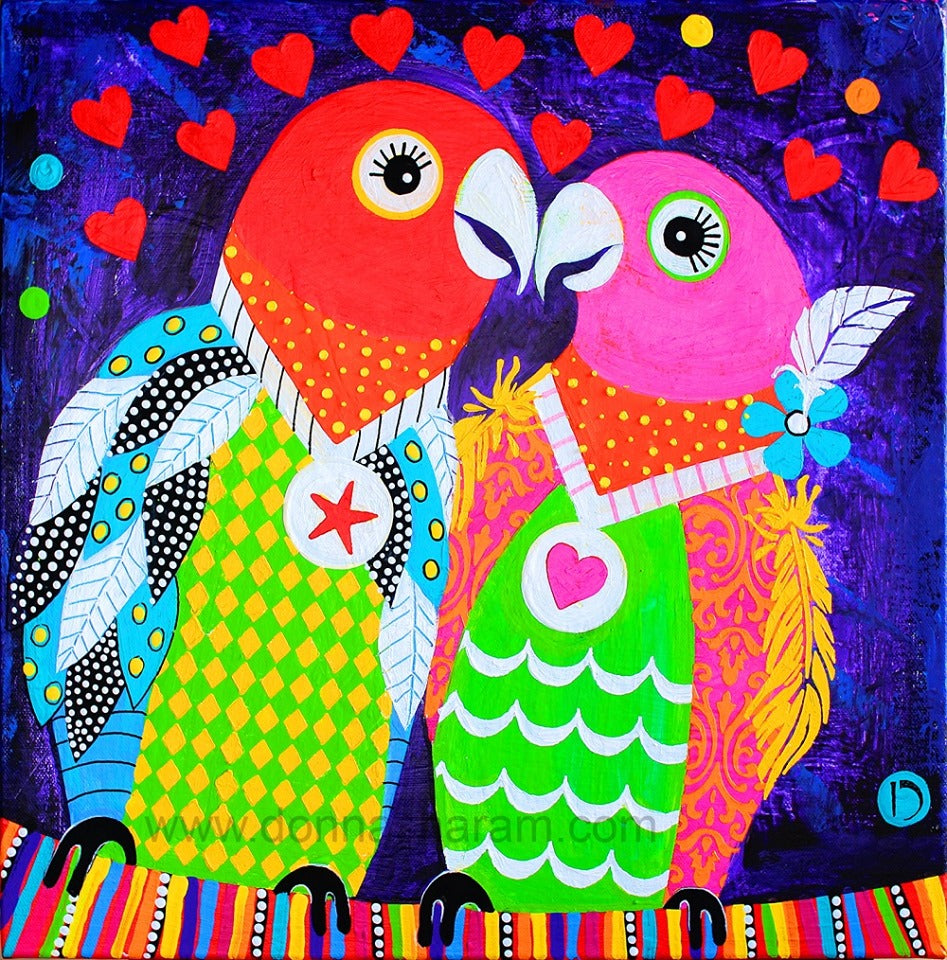 Love Birds Donna Sharam Art Gallery