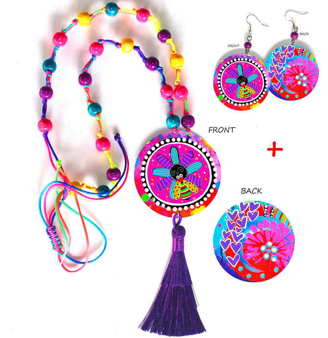 Purple Pop Jewellery Set