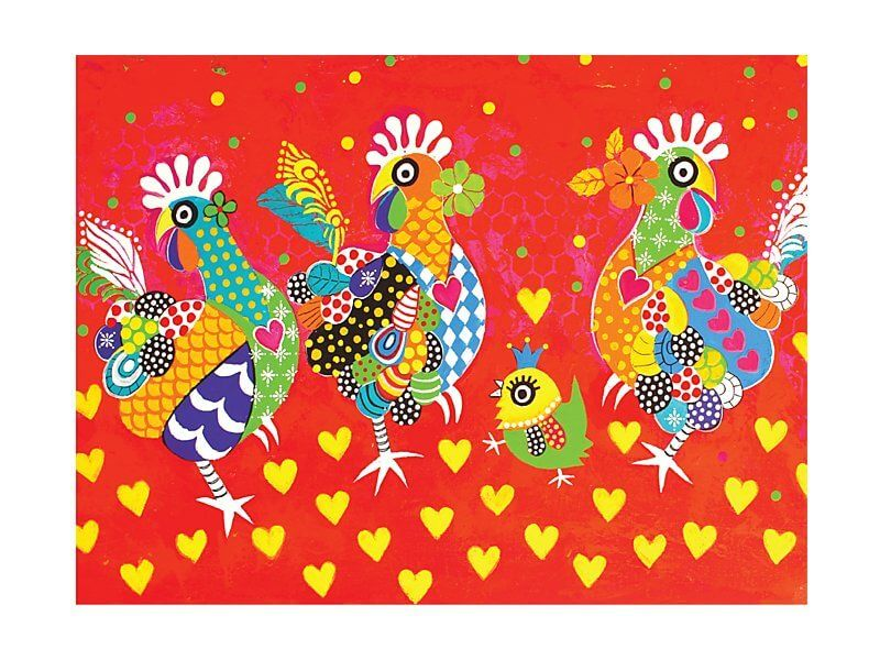 Chicken Dance - Tea Towel
