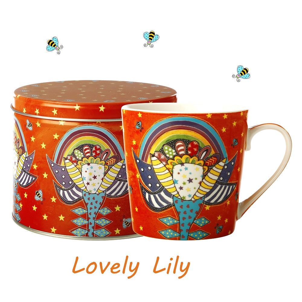 Lovely Lily Mug in a Tin