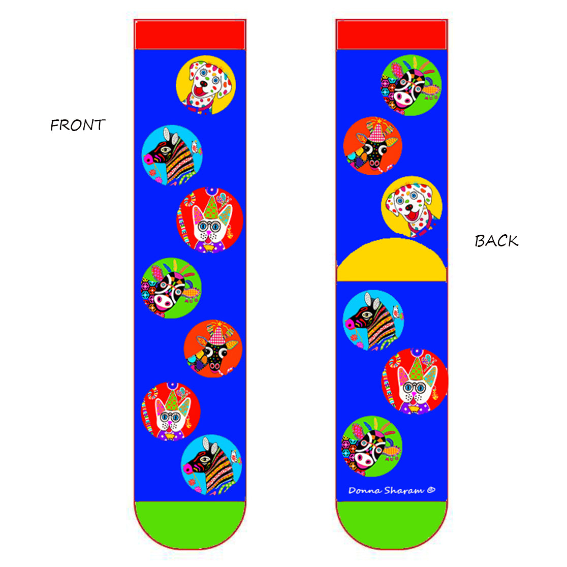 Zoo Zocks Blue - 1 Pair