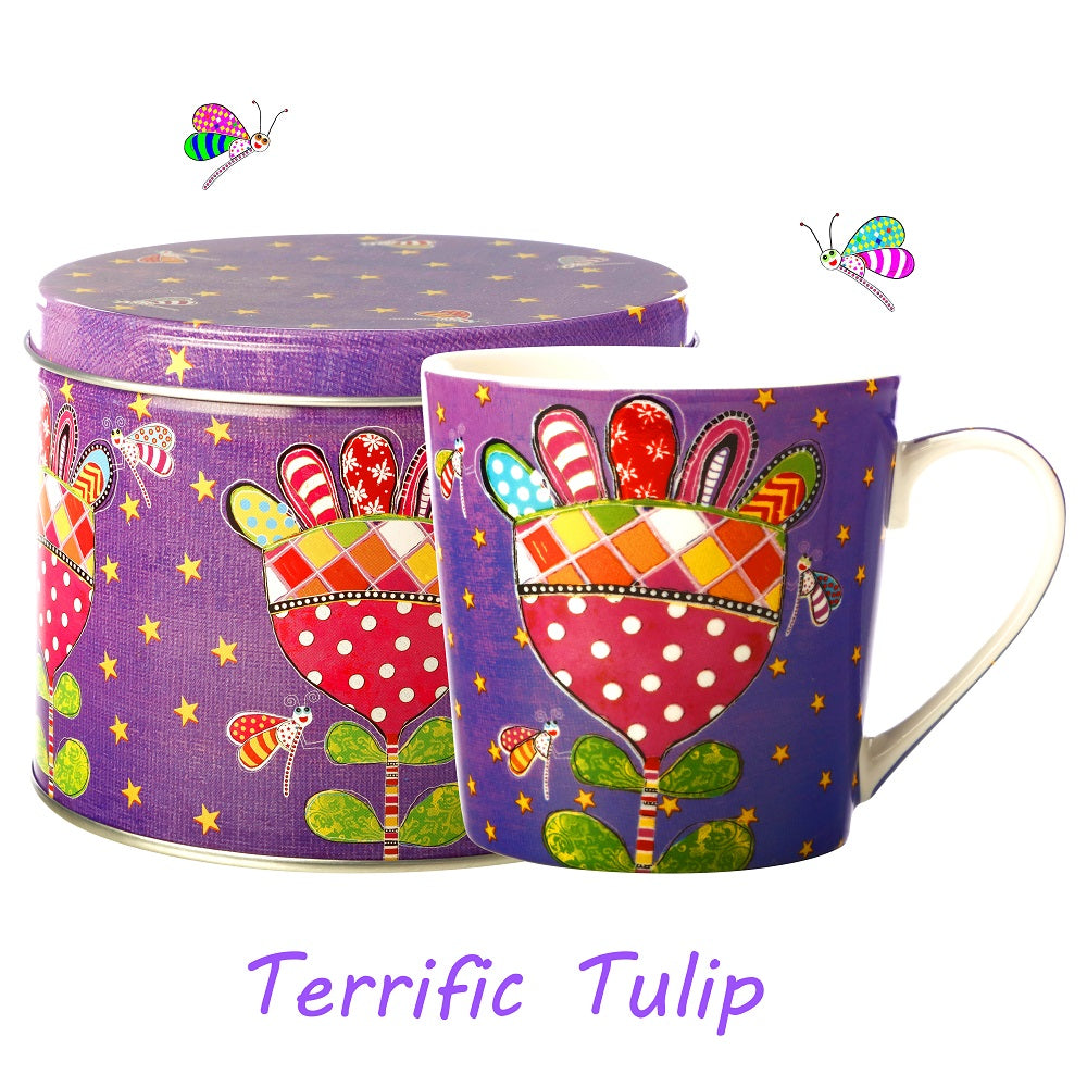 Terrific Tulip Mug in a Tin
