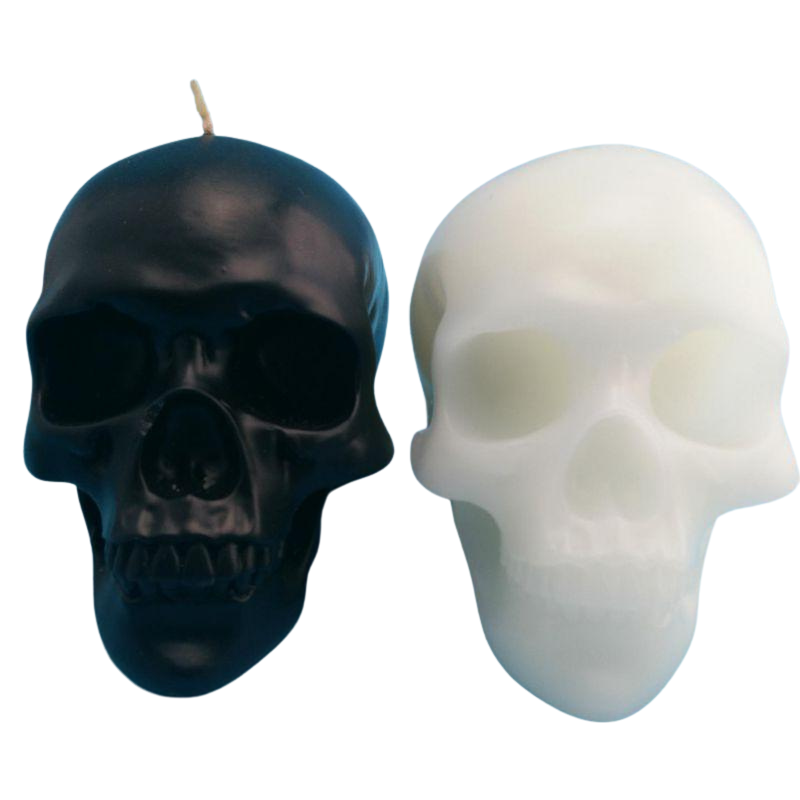 Halloween Skull Candles Spooky Table Decoration