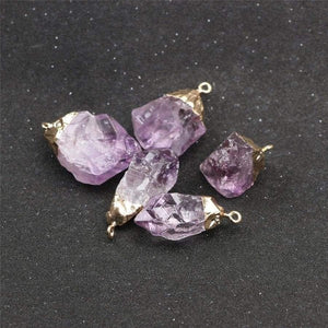 mermaid-vemon,Amethyst Crystal Protection Stone Necklace.