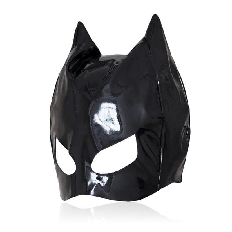 mermaid-vemon,Black Spandex Kitty Fetish Mask.