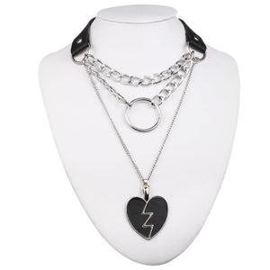 mermaid-vemon,Broken Heart Choker Necklace.