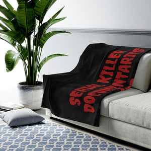Saddle Brown Serial Killer Documentaries And Chill Velveteen Plush Blanket