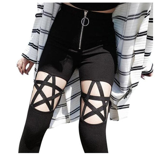 mermaid-vemon,Dark Night Pentagram Leggings.
