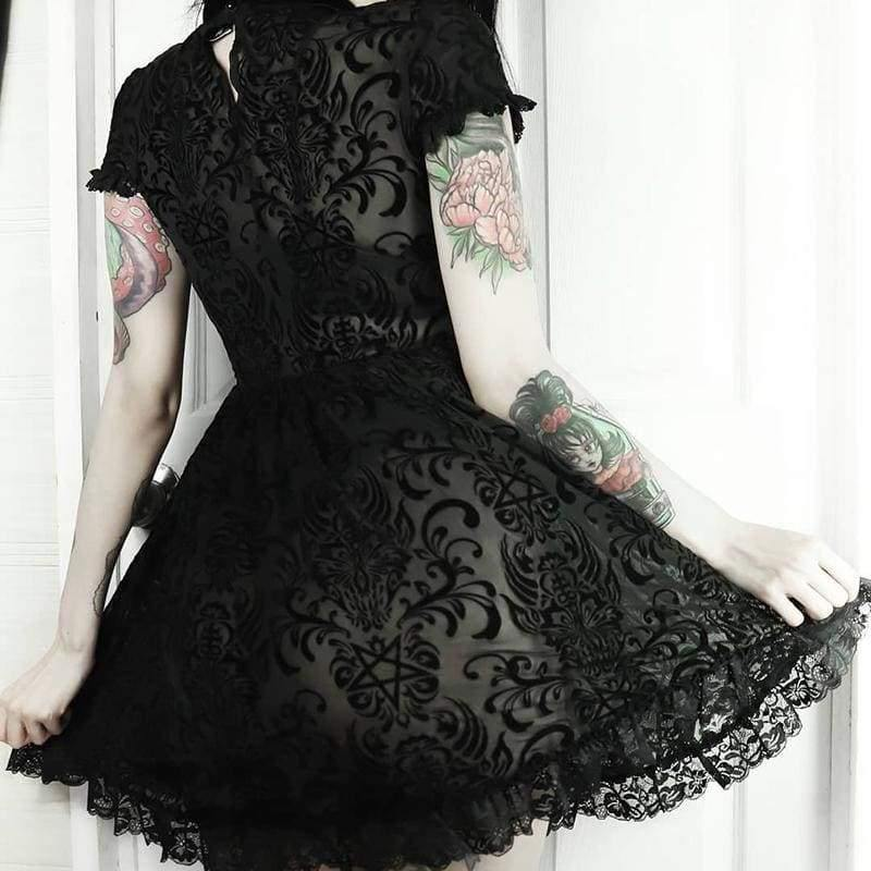 mermaid-vemon,Dark Vows Vintage Lace Dress.