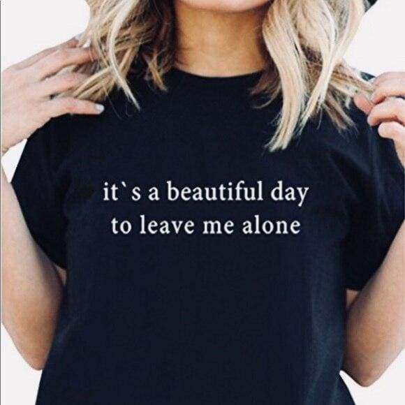 mermaid-vemon,It's A Beautiful Day To Leave Me Alone Tee.