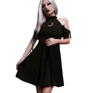 mermaid-vemon,Love Witch Moon Cutout Dress Neckline.