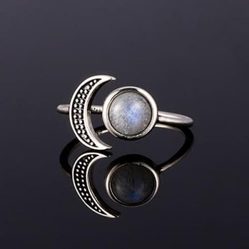 mermaid-vemon,Moon 925 Silver Ring.