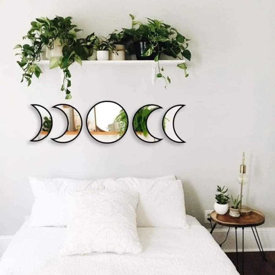 mermaid-vemon,Moon Cycle Wall Mirror.