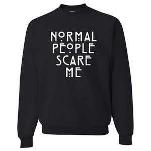 mermaid-vemon,Normal People Scare Me Sweatshirt.