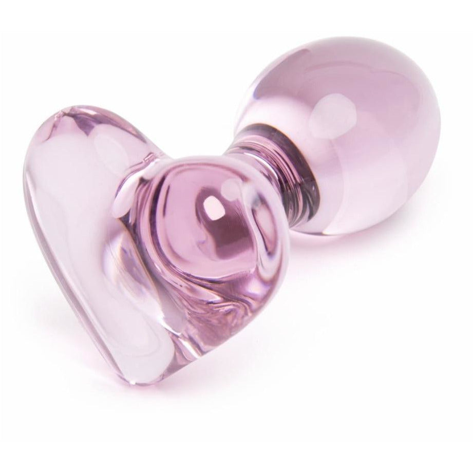 Crystal Heart Glass Butt Plug