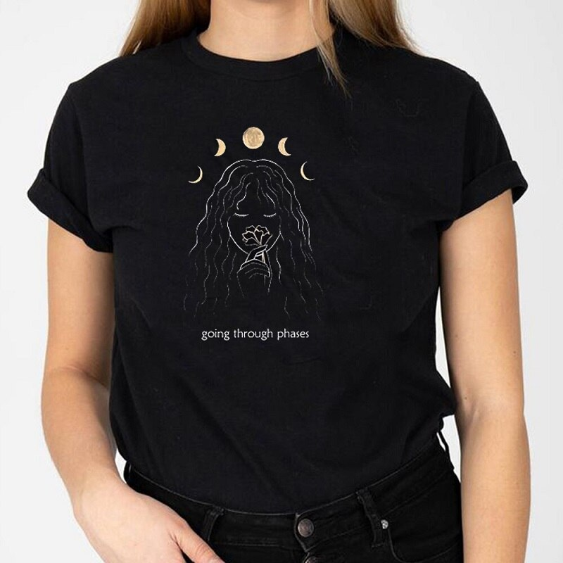 Going Through Phases Moon Tee