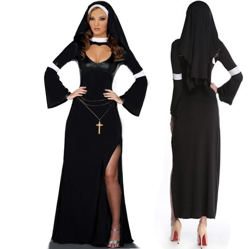 mermaid-vemon,Sexy Sister Nun Costume.