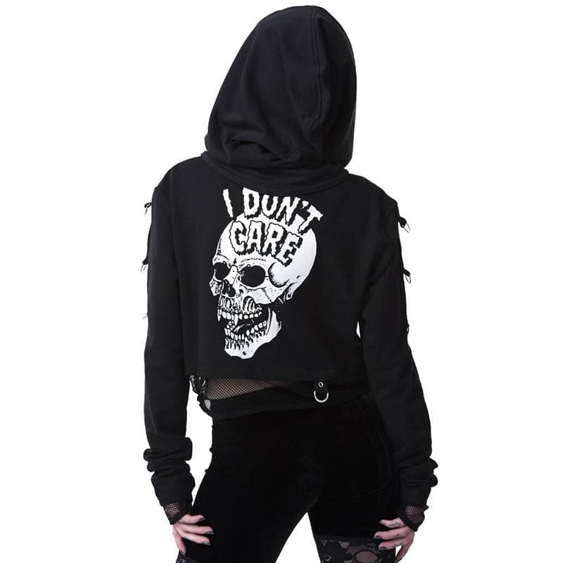 mermaid-vemon,Skull-wear Don't Care Hoodie.