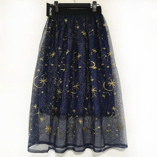 mermaid-vemon,Star Gazed Tulle Skirt.