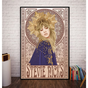 mermaid-vemon,Stevie Nicks Silk Decorative Poster.